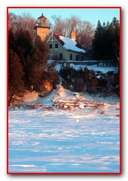Eagle Bluff Light House - Winter View